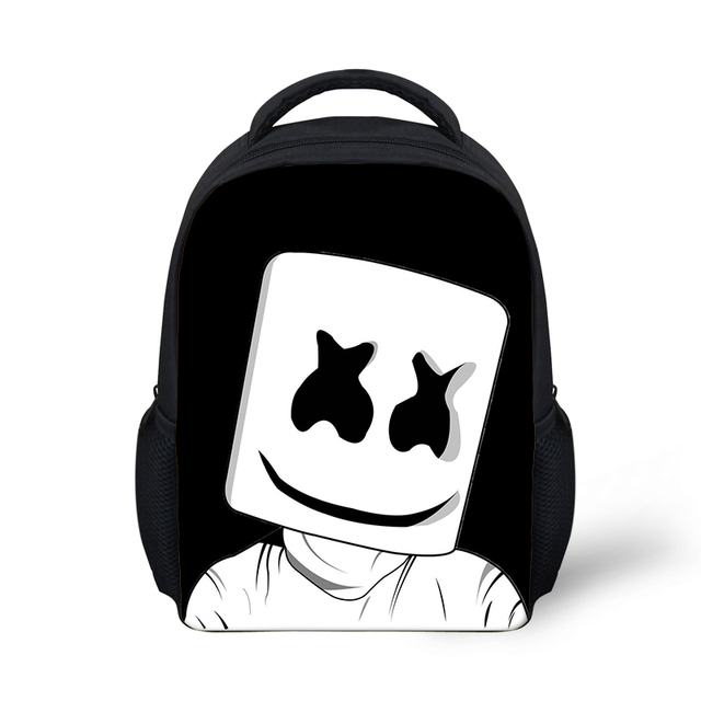 b0e019c6141c Mask DJ School Bag Marshmello Backpack for Kids Boy Girls Female Backpack  Printing Casual Helmet Junior