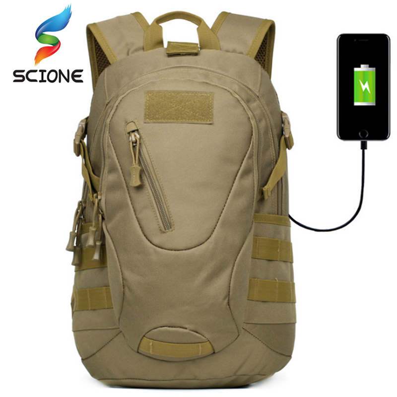 Outdoor Climbing Military Sports Backpack 30L External USB Charging High-Capacity Rucksack Hiking Waterproof Molle Tactical Bags 35l waterproof tactical backpack military multifunction high capacity hike camouflage travel backpack mochila molle system