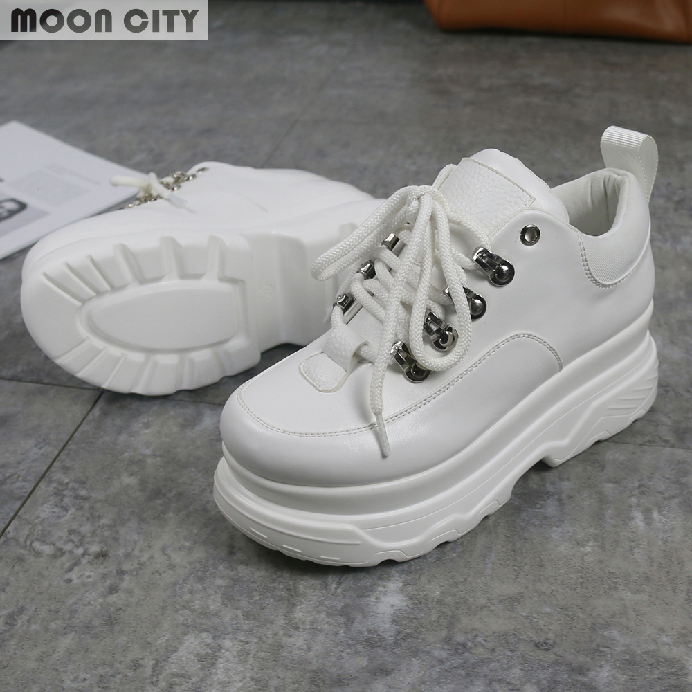 2018 New spring & autumn women Platform shoes Woman Fashion Thick Bottom Footwear Ladies casual sneakers Women's Vulcanize Shoes smile circle spring autumn women shoes casual sneakers for women fashion lace up flat platform shoes thick bottom sneakers