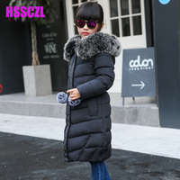 Winter Girl Down Jackets Girl Long Female Big Girl Baby Baby Clothes 2016 New Thick Coat