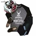 Christmas Elk Pattern T-Shirt Women Fashion Letter Printed Shirts Ladies Cotton Long Sleeve Autumn Tops Shirt Plus Size #JO