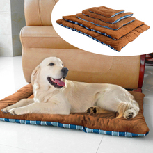 Winter Dog Cat Cushion Mat Soft Puppy Sleep Bed Kennel Warm Thick Pet Blanket Pad Matress Sofa For Small Medium Large Dogs XS-XL