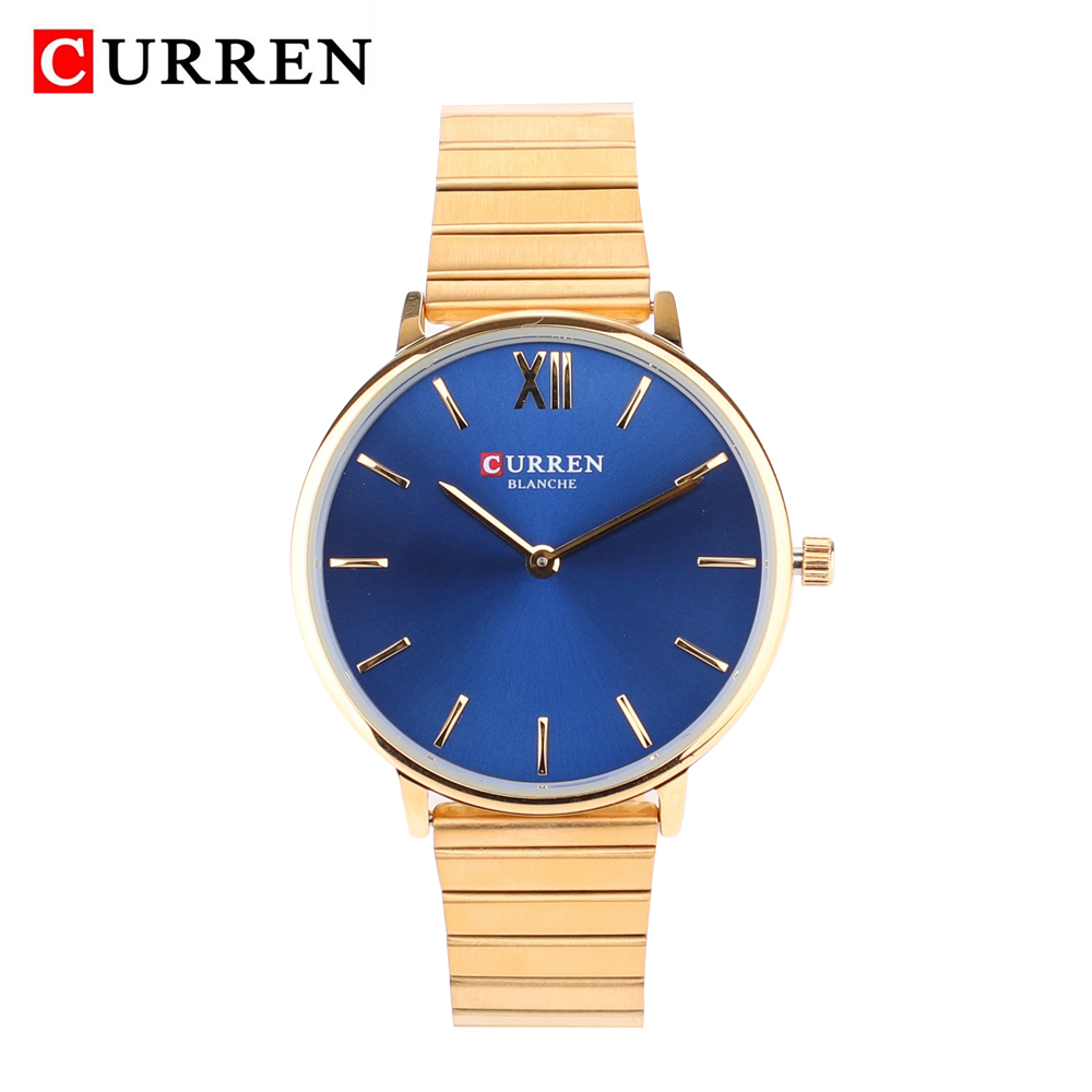 Curren Women Watch Top Luxury Brand Fashion Ladies Quartz Watch Gold Stainless Steel Band Womens dress Wristwatch reloj mujerCurren Women Watch Top Luxury Brand Fashion Ladies Quartz Watch Gold Stainless Steel Band Womens dress Wristwatch reloj mujer