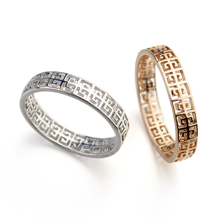 2 Colors 2016 Real Brand Fashion Classical hollow pattern Rings for Women New Sale 15586