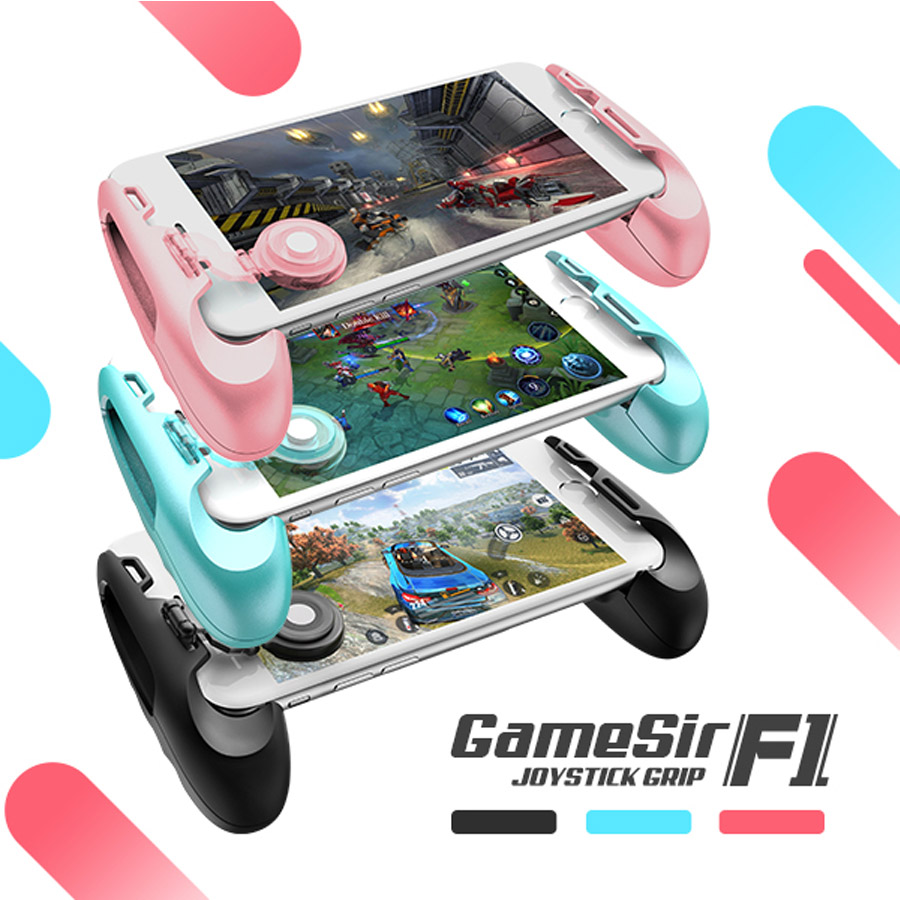 GameSir F1 MOBA Controller for Android & iPhone (Mobile Legends, Vainglory, etc) Gamepad Grip Extended Handle gamesir f1 gamepad game controller phone analog joystick grip for all android