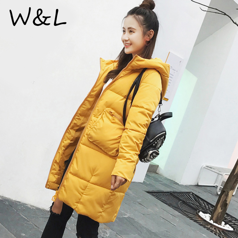 2017 Parkas Jackets Women Autumn Winter Coat thick Female Casual loose Long Down Cotton Wadded Fashion Warm plus size Outerwear цены онлайн