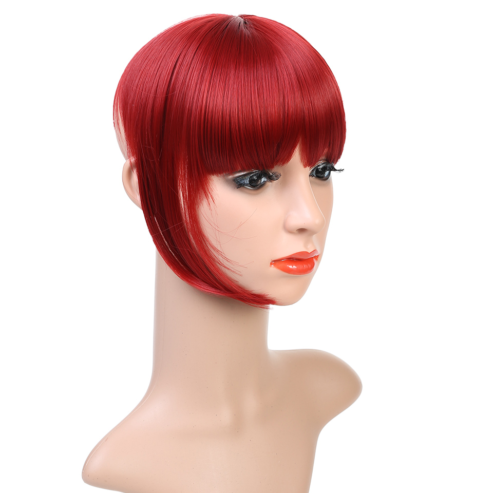 Hot Sale Head Bangs Straight Fringe Thick Hairpiece Hair Extension