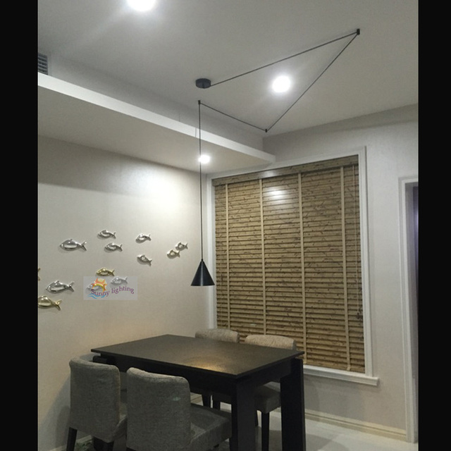 Showcase 1 stks lange aluminium opknoping hanglamp slaapkamer ...