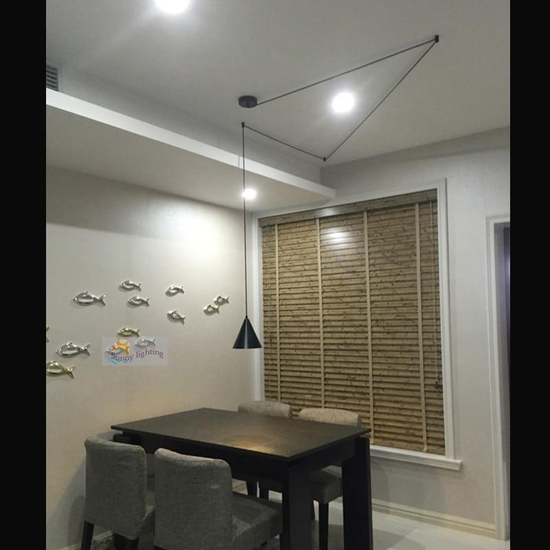 showcase 1 pcs long aluminum hanging pendant light bedroom lighting Boutiques hallway light studio Art Deco cord pendant lamp