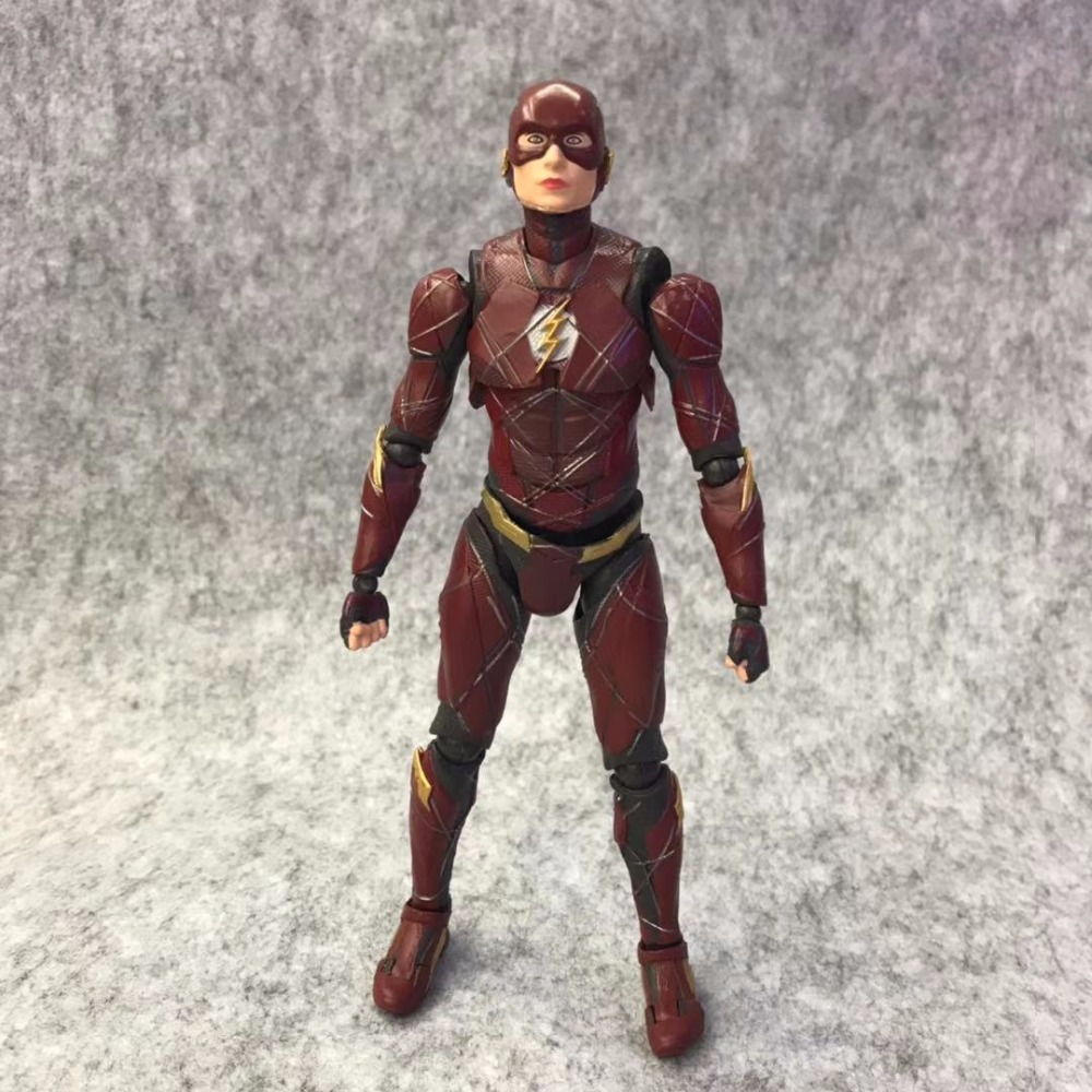 Huong 15CM DC The Flash Super Heros PVC Action Figure Toy Doll Brinquedos Collection Model Gift
