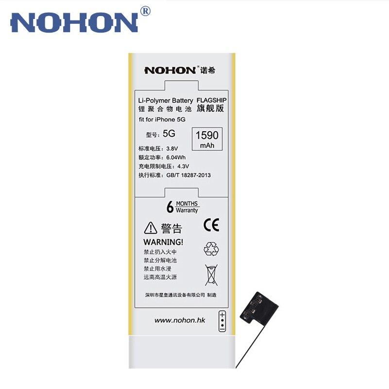 imágenes para NOHON Batería de Repuesto para Apple iPhone 5 5G iPhone5 Alta Capacidad Real de 3.8 V 1590 mAh li-polymer Las Baterías de litio Con Herramientas