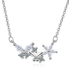 Everoyal New Arrival Female 925 Silver Necklace For Women Jewelry Fashion Crystal Butterfly Girl Choker Bijou