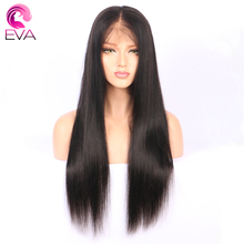 Eva Hair 180% Density 360 Lace Frontal Wigs Pre Plucked With Baby Hair Brazilian Remy Straight Human Hair Wigs For Black Women