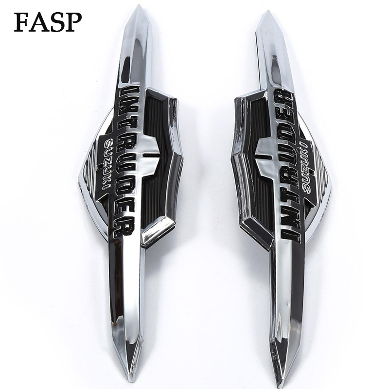 2 PCS FASP Motorcycle Gas Tank Emblem Badge For Suzuki Intruder VL400 VL800 LC1500 Volusia Gas Tank Emblem Badge Decals