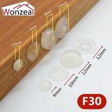 60 зерен двери шкафа бампер различного размера из силикона материал для кухонного шкафа самоклеящаяся Демпферная Накладка для двери стоппер