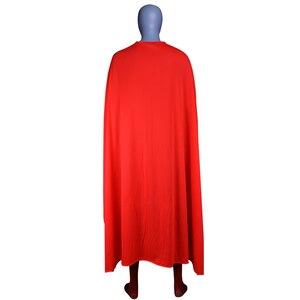 Image 2 - Men Boys Superman Man of Steel Cosplay Costumes Tights Jumpsuits Superhero Event Halloween Superman Costumes Zentai Suit Cloak
