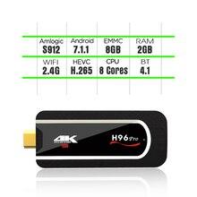 H96 pro Mini amlogic s912 stick 64bit Octa-core android 7.1 tv box 2G 8G Support 4K H265 mini Android HD1M h96 pro tv dongle