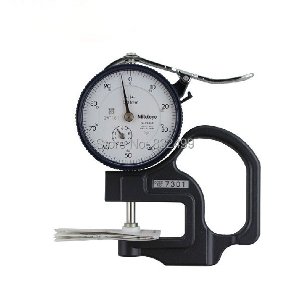 0-10mm 0.01mm depth 30mm NEW Mitutoyo 7301 Dial Thickness Gage