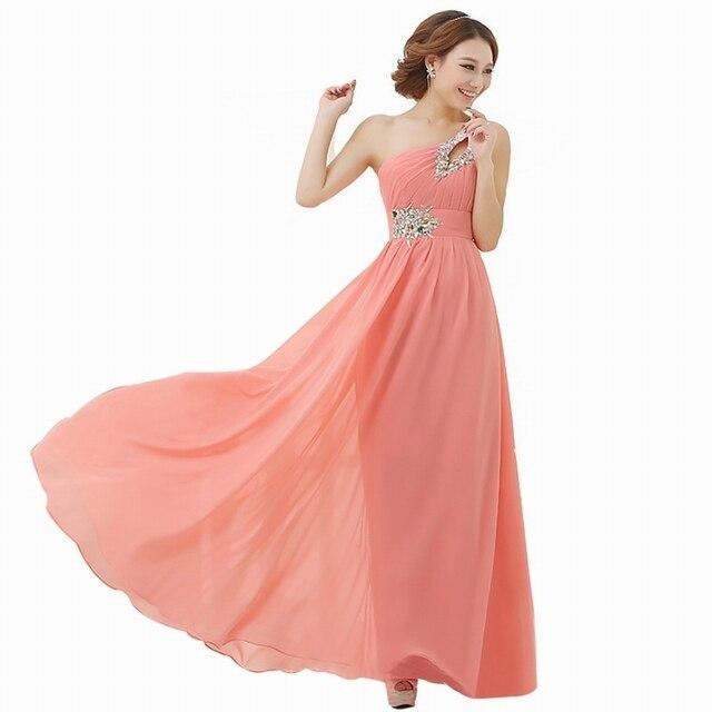 Vestido de noche largo 2015 venta caliente de la gasa cristal de un ...