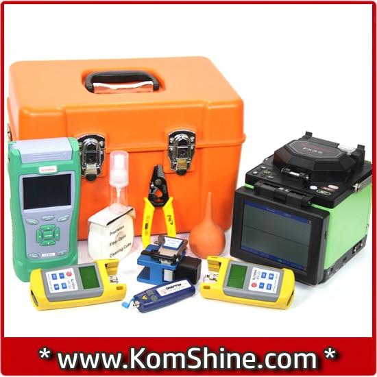 5.7 inch LCD display Fusion Splicer Komshine FX35 Welding Machine+ 1310/1550nm 32/30dB QX40 OTDR with FC UPC connector