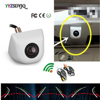 YYZSDYJQ WIRELESS Dynamic Trajectory Backup BACKUP CAMERA Parking Camera White Cam For Mercedes Benz any car Universal