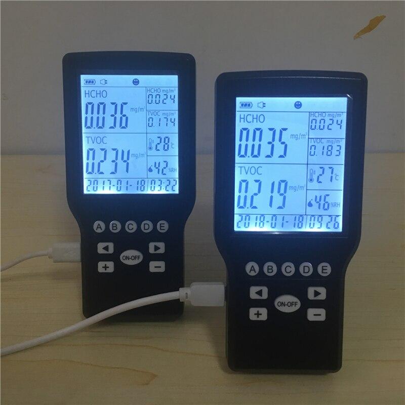 Household formaldehyde air quality detector TVOC air monitoring