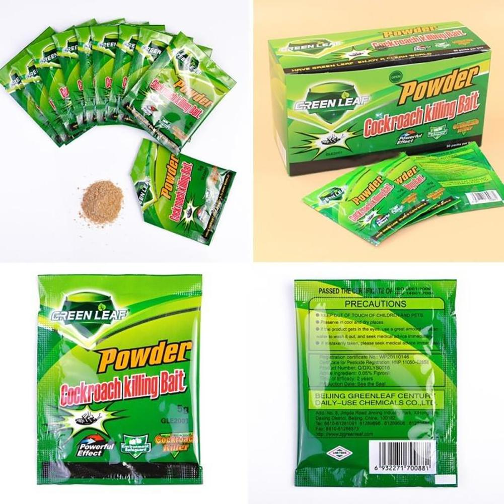 5Pcs Powerful Cockroach Killer Insecticidal Powder Pest Control Roach Remover
