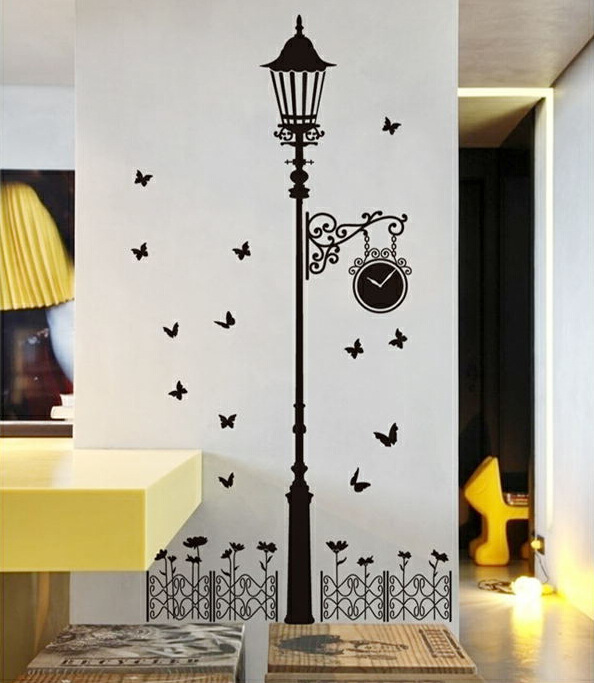 vinilos paredes decor for street corner shop fashion personality decorative wall stickers bedroom hallway sticker