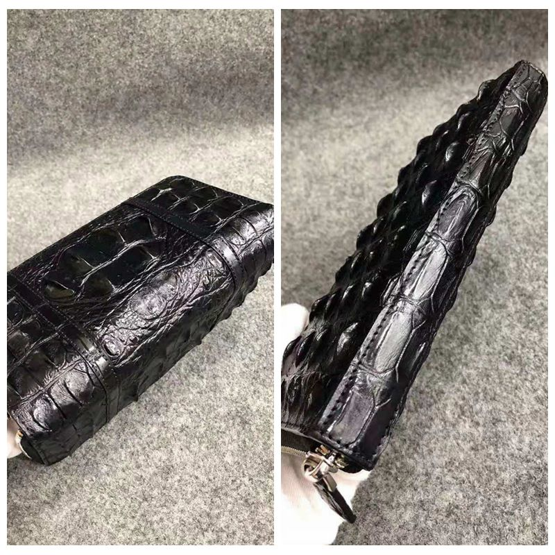 Genuine Alligator leather wallet fashion luxury genuine crocodile clutch long wallet for men women UBEJ0013 - 6