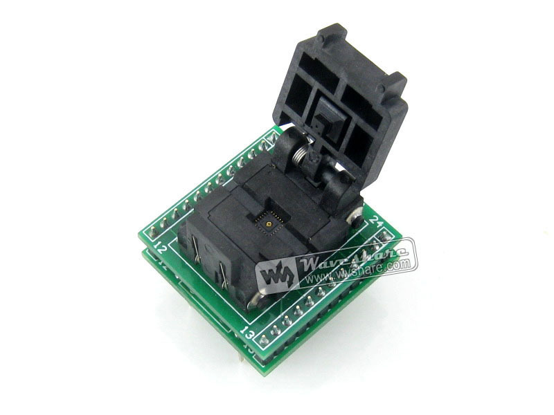 Plastronics IC Test Socket & Programming Adapter QFN24 TO DIP24 (B) for QFN24 MLF24 MLP24 package IC 0.5mm pitch 24pins ресанта