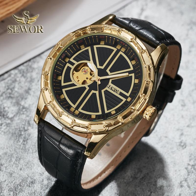 SEWOR 2019 Luksusowa Marka Moda Chalet Joke Kształt Mężczyzna - Męskie zegarki - Zdjęcie 3