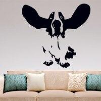 Бассет Хаунд настенные виниловые наклейки Home Decor, собак поднял уши кухня, спальня, гостиная стены искусства росписи наклейки
