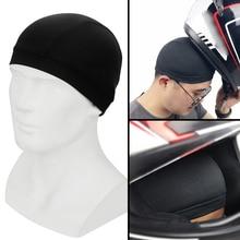 خوذة دراجة نارية ليبي قبعة داخلية للجنسين سريعة الجافة تنفس قبعة قبعة سباق تحت خوذة