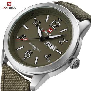 Image 4 - NAVIFORCE reloj de pulsera deportivo para hombres, reloj de pulsera militar para hombres, reloj de pulsera informal a la moda para Camping, reloj Masculino