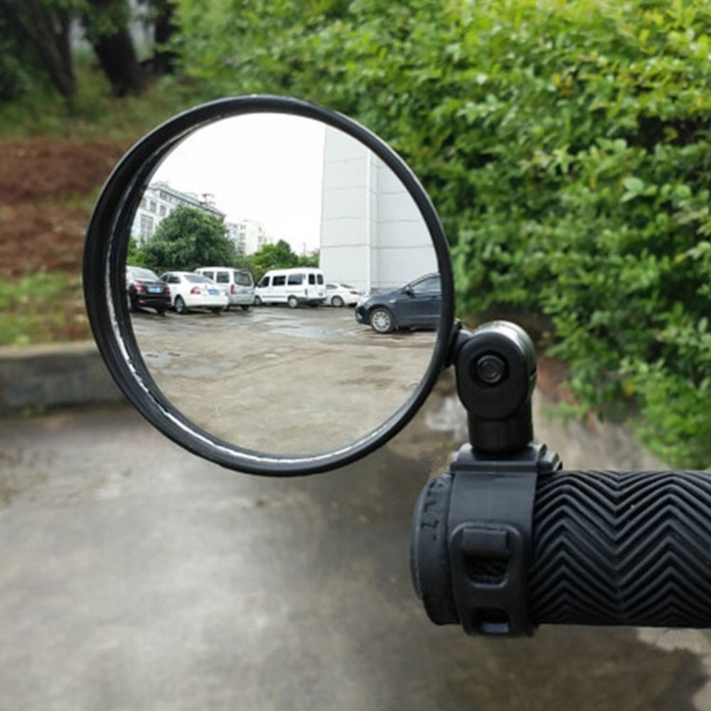 Mini Adjustable Bike Rearview Mirror Bicycle Cycling Handlebar Back Eye Blind Spot Mirror Flexible Rear View Mirror 360 Degrees