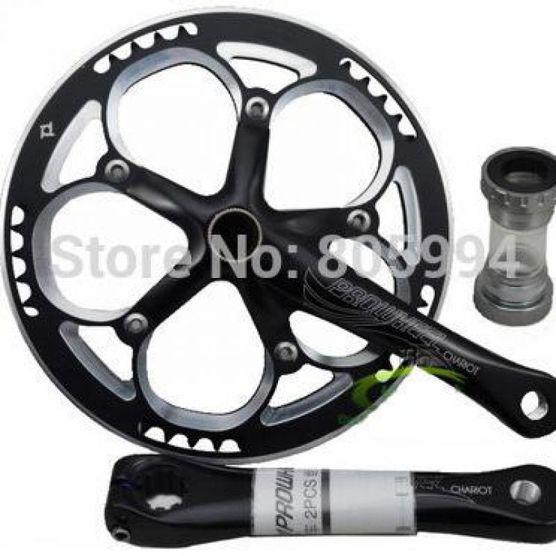 цена на Prowheel Chariot 53t Folding Bike Road Bike Crankset 170 Crank bicycle Chainwheel 170L 170mm for SP8 8s 9s speed