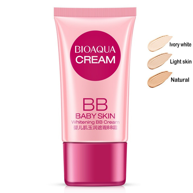 3 Colors BB Cream Concealer Brighten Whitening Moisturizing Base Face Foundation Makeup Beauty Skin Care