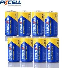 Pkcell 8 pacote de zinco carbono bateria tamanho c r14p um2 baterias batteria