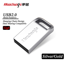 Maxchange 32gb High Speed USB Flash Drive U Disk Metal Pendrive USB Stick USB2.0 Memory Stick Pen Drive Gift