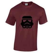 Mens New Star wars Storm Trooper Black print short sleeve burgundy t-shirt Small Print Tee Short Sleeve Clothing free shipping watermelon print short sleeve tee