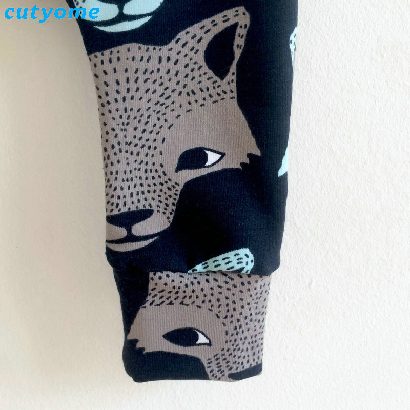 Cutyome Baby Kids Boys Harem Pants Wolf Printed Casual Cartoon Elastic Trousers Newborn Infant Boy Costume Bottoms Clothes 3-24M (4)