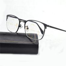 2018 dos homens de Alta Qualidade Lente Multifocal Progressiva Óculos Homens  Mulheres óculos de Leitura Presbiopia 1070432e5b