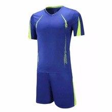 Men's training soccer jerseys sets professional design blank short-sleeve football jerseys kits Custom Football Team Sportswear