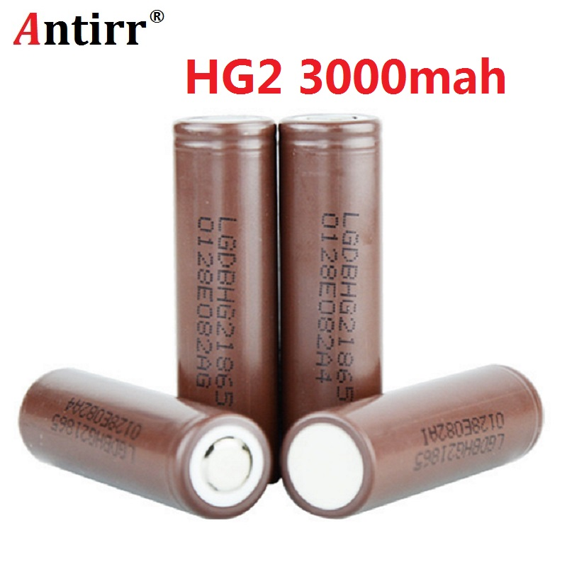 for LG HG2 18650 18650 3000mah electronic cigarette Rechargeable batteries power high discharge 30A large current free shipping аккумулятор 18650 lg hg2 3000 mah 20a