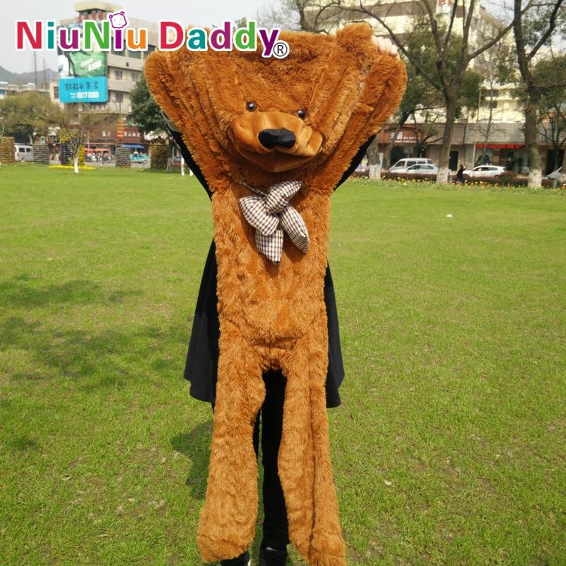 """Niuniu Daddy 140cm / 55 """"inch מוצרים מוגמרים למחצה דובי עור, פלוס בד עור, צעצועים פלוס 5 צבע יכול לבחור, משלוח חינם"""