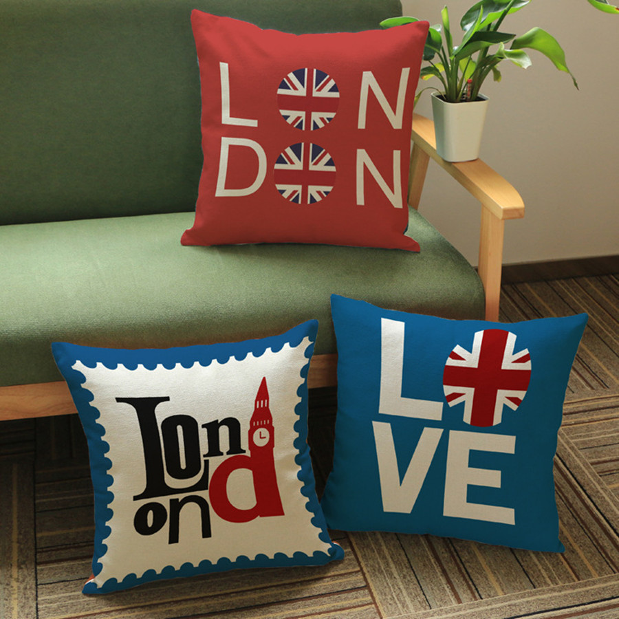 High Quality Linen Throw Pillows Cushion Couple Letters Combination Style  Home Decor Outdoor Car Sofa Seat