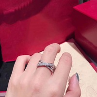 CC CA0009 925 Sterling Silver Cross Ring With Box