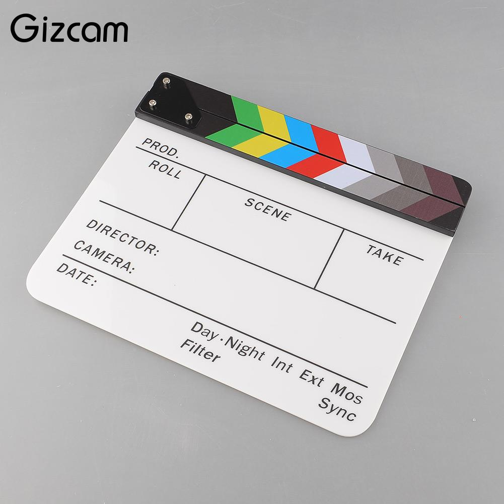 Gizcam Colorful Clapperboard TV Movie Video Film Action Slate ...