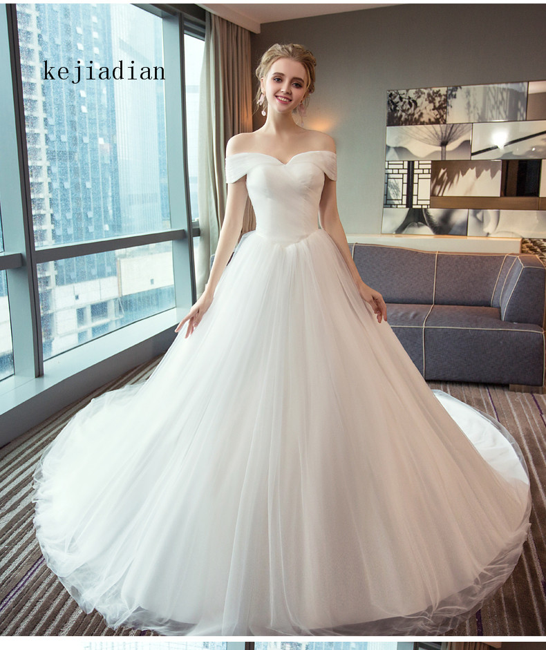2018 White Ivory Gown Tulle Sweetheart Wedding Dress Real