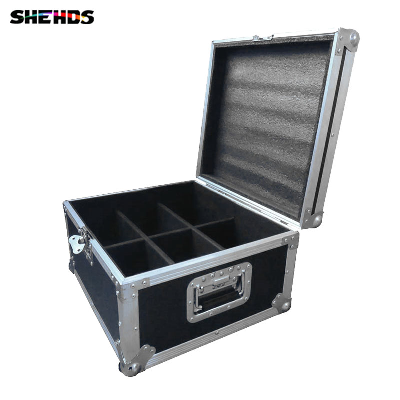 Flight Case with 6/8/10 pieces LED Flat Par 7x12W RGBW Lighting 4IN1 LED Fast Shipping,SHEHDS Stage Lighting цены
